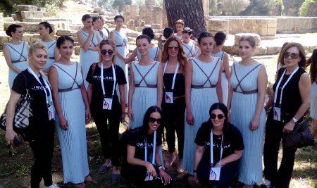 Συμμετοχή του τομέα επαγγελματικού μακιγιάζ της ΣΒΙΕ στην τελετή αφής και παράδοσης της Ολυμπιακής φλόγας